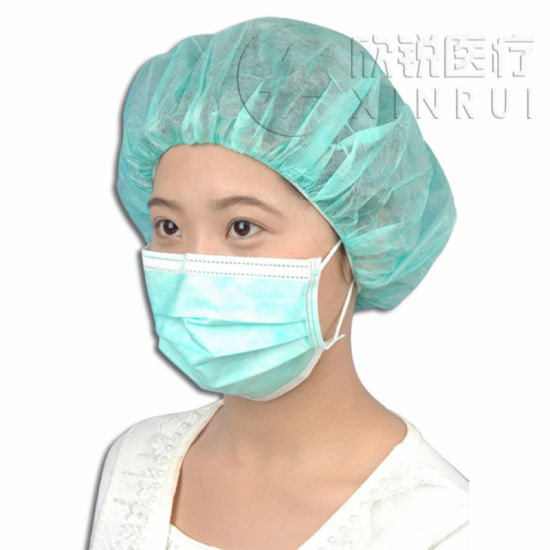 Disposable Non-Woven Round Cap/Nurse Cap 19 Inch