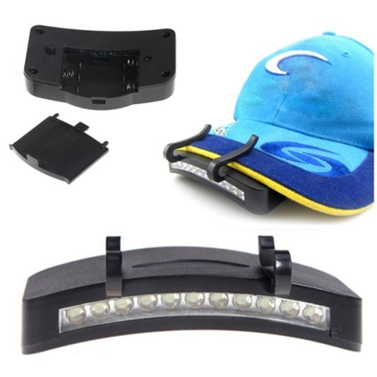 11 LED Clip-on Lamp Hiking Camping Outdoor Cap Light pictures & photos
