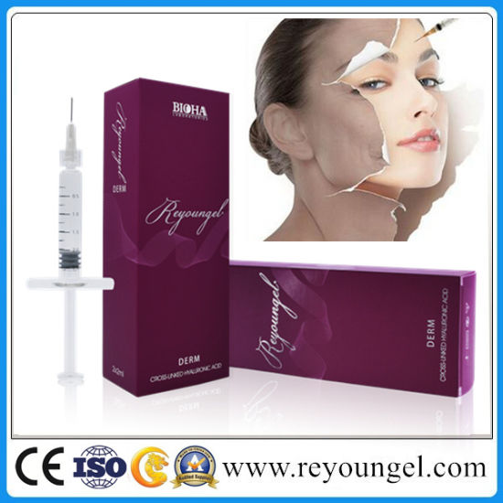 Reyoungel Cross Linked Hyaluronic Acid Dermal Filler Injection for Reducing Wrinkles pictures & photos