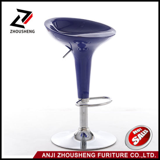 Wholesale Modern ABS Plastic Chromed Base Bar Stools Chair Zs-101