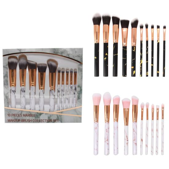 817524a0e59b China 10 Pieces PRO Marble Makeup Brushes Whole Set with Marble ...