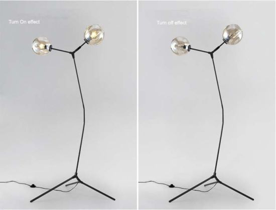 Wonderful Design Modern Glass Standing Floor Lamp Light for Living Room pictures & photos