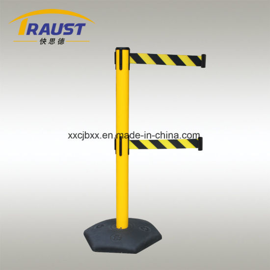 Double Belt Plastic Traffic Barrier pictures & photos