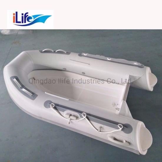 Ilife 8.9FT Dinghy PVC/Hypalon Rigid Hull Firberglass Inflatable Rubber Fishing Sport FRP Boat for Sale