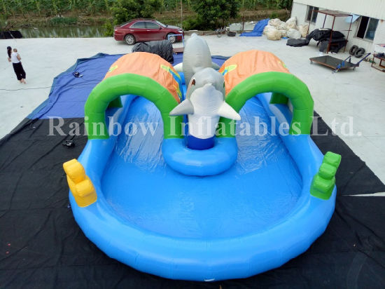 Hot Sale Inflatable Swimming Pool for Personal Use or Rental, Inflatable Dophin Swimming Pool for Kids or Adults pictures & photos