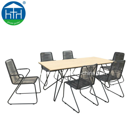 Modern Outdoor Powder Coating Aluminum Dining Table and Chair Set