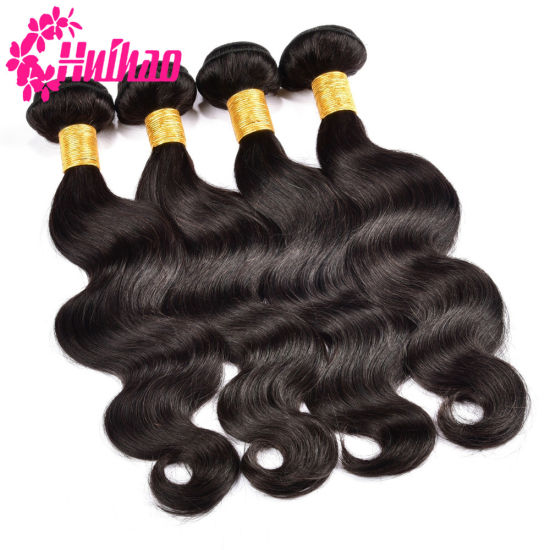 100% Remy Virgin Brazilian Hair Bundles Hair Weave Human Hair with Closure pictures & photos