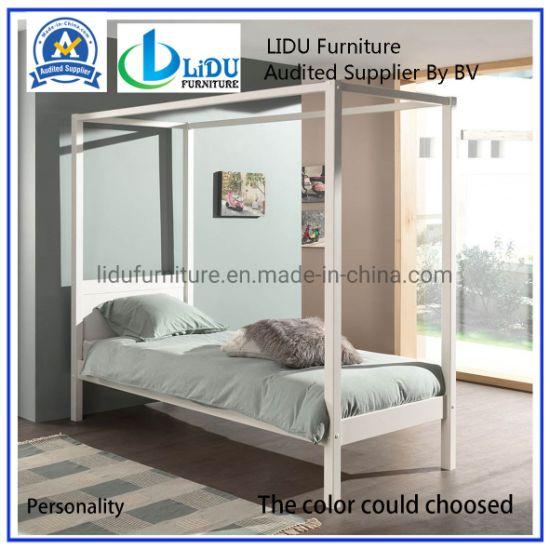Modern Wooden Bed/ Wooden Single Pine Bed Princess Bed ...
