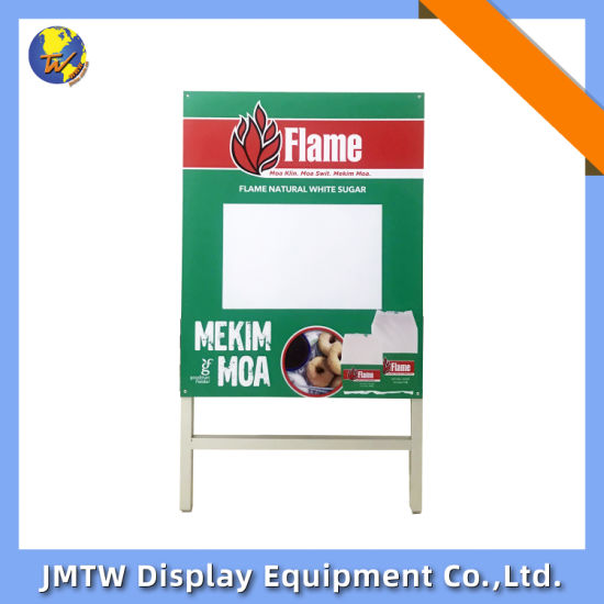 Customized Printing Retail Display Stand for Supermaket with Double Sided