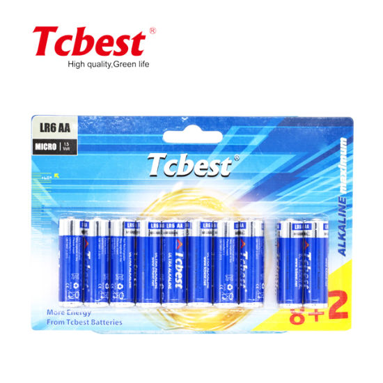 2020 Factory Directly Supply 1.5V Lr6 No. 5 #5 AA Alkaline Battery
