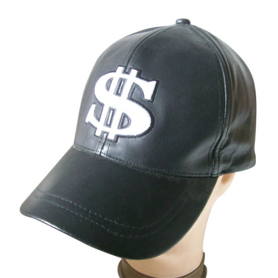 Leather Baseball Cap in Solid Color (LT-4)
