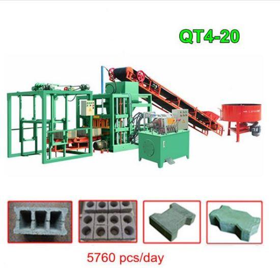 Best-Selling Low Cost Cement Block Making Machine Qt4-20 Automatic Concrete  Block Making Machine Sale
