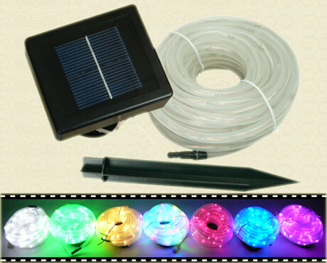 Waterproof LED Solar Tube Outdoor Decorative Rope Lights