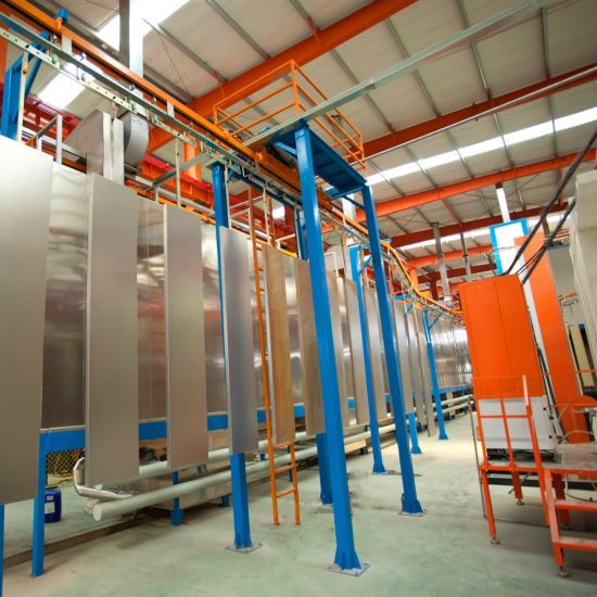 Stainless Steel Material Compact Powder Coating Line for Small Size Factory