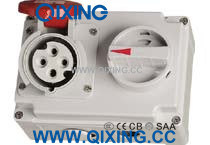 Cee 16A 4p IP44 Industrial Interlocked Socket with Swith