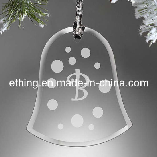 Personalized Bell Glass Xmas Ornament for Christmas Tree Ornaments