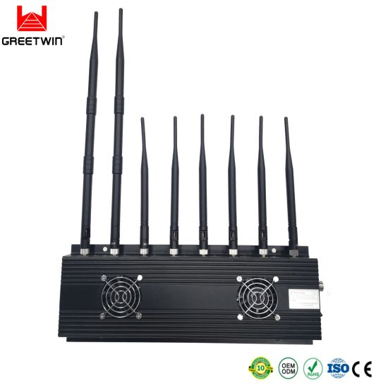 8 Antennas 2g 3G 4G GPS WiFi Jammer Cell Phone Signal Blocker Mobile Phone Signal Jammer