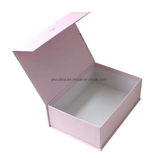 Custom Printing Paper Packaging Magnetic Closure Cardboard Cosmetics Box with Printed