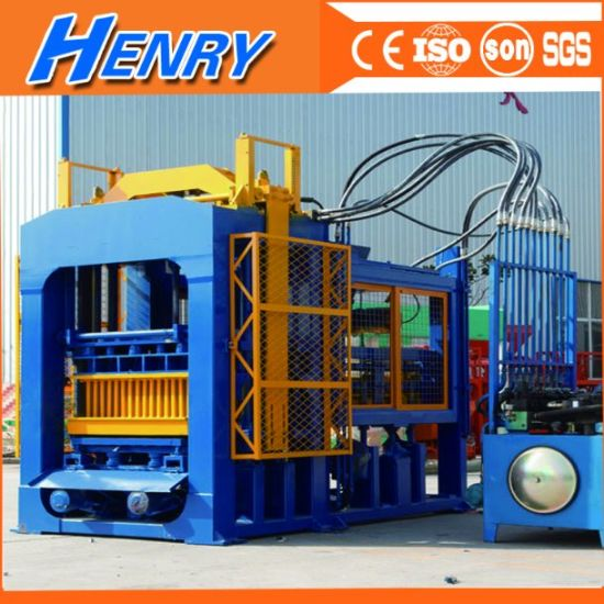 Qt10-15 Full Automatic Hydraulic Concrete Block Making Machine, Construction Material Road Block Machine pictures & photos