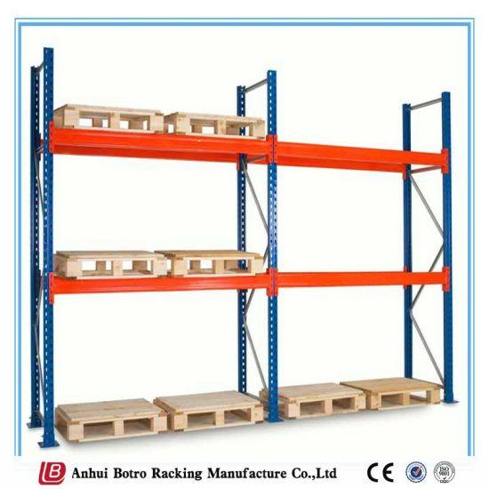 China Double Deep Storage Galvanized Steel Pallet Rack