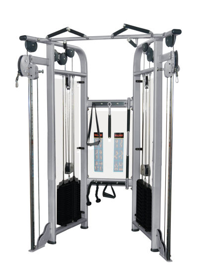 Fitness Equipment Gym Exercise Machine for Dual Adjustable Pulley (FM-1002) pictures & photos