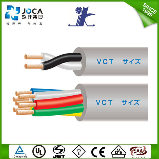 China Japanese Standard 600V 2 Core 0.75sq 2X0.75mm2 Vct Wire Cable ...