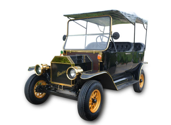 Supply New Condition Electric Vintage Sightseeing Vehicle Bus Model T with Doors
