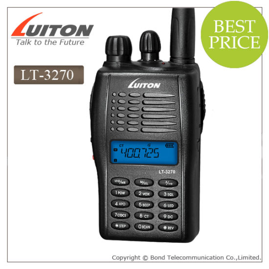 Luiton Lt-3270 VHF UHF Hotel Handheld Walkie Talkie pictures & photos