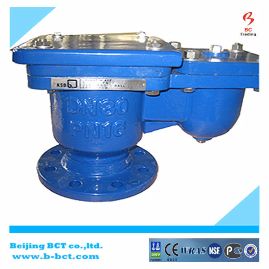 Cast Iron Flange Type Automatic Air Valve Single Ball Bct-Sav-01 pictures & photos