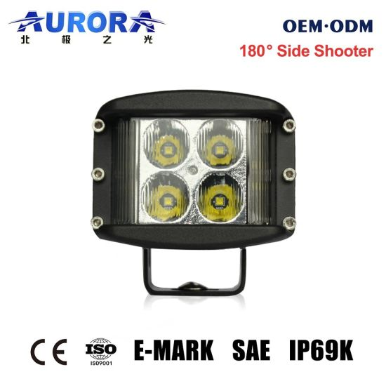 Newest 2'' 40W Aurora Offroad Motorcycle LED Side Shooter Work Pod Light