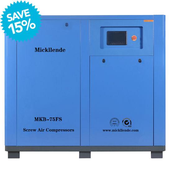 Mickllende Industrial AC/DC Inverter Screw Type Machine 75HP 55kw 375 Cmf High Pressure Efficiency Air End Rotary Screw Air Compressors
