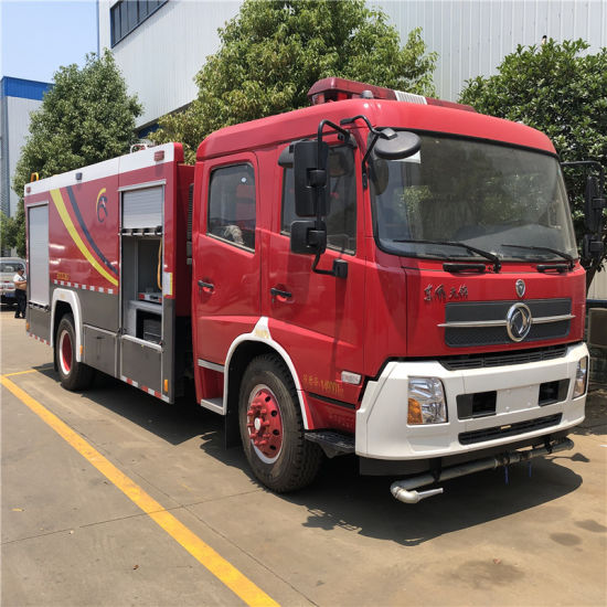 Factory Directly Sale Dongfeng 190HP 4X2 2axles 7-9cbm Water and Foam Tank Rescue Vehicle Diesel Fire Engine Fire Fighting Truck