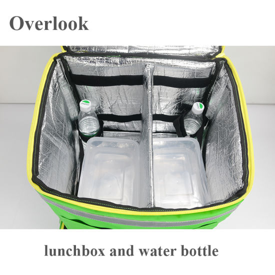 500d Waterproof Two Layer Backpack Insulated Food Delivery Bag pictures & photos