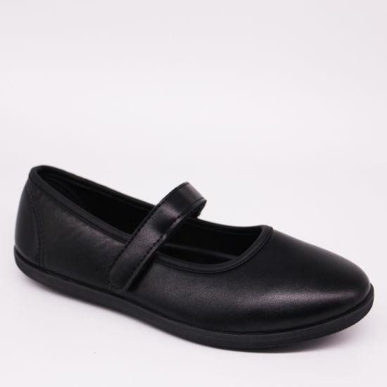 Blank PU Leather Soft Students School Shoes Girls' Flats