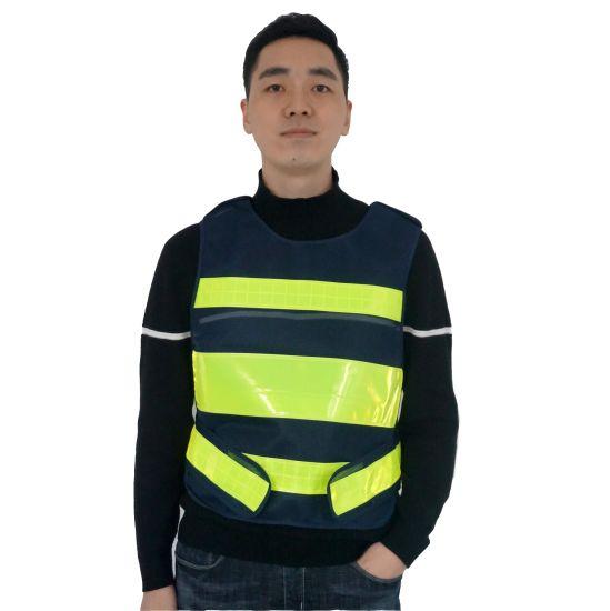 En20471 Breathable 100% Polyester High Reflective Warning Safety Vest Work Clothes