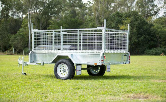 2019 6X4 7X4 7X5 8X4 8X5 Hot Dipped Galvanized Utility Car Trailer with Tilt