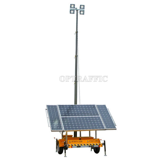 Hot Sale Hydraulic Mast Trailer Mounted Mobile  Solar Battery 12V 24V Power LED Tower Light for Mining Indurtry pictures & photos