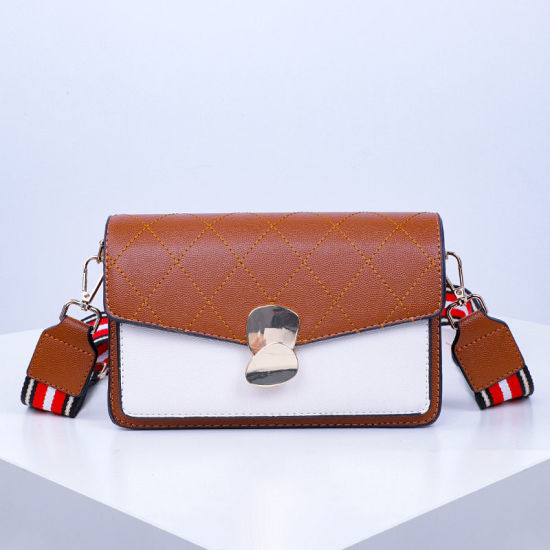 08724a55c8f Newest PU Leather Lady Handbags Color Collision Crossbody Bag Sh875