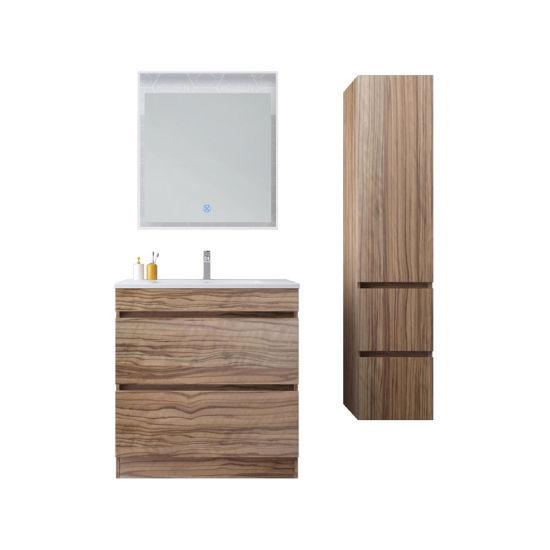 Floor Mounted Luxury Germany Style Bathroom Vanitie with Melamine Finishing