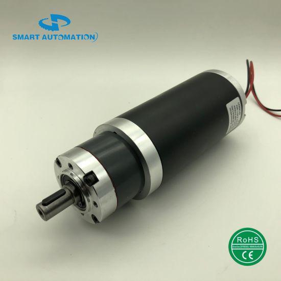 56jx. 63zyt Pm DC Planetary Gear Motor 12V 24V 36V 48V with Planet Geared Reducer/Gearbox Helical Low Noise, Option Brake Encoder Power 30W 50W 100W 150W 200W