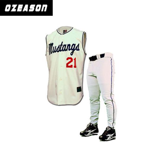 e006a72598d Professional OEM Blank Baseball Wear Sleeveless Baseball Jerseys Pants  (B020) pictures & photos