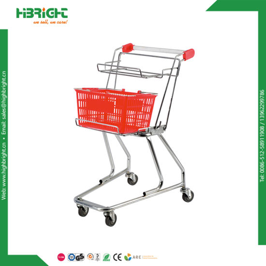 American Style 2-Tier Double Basket Shopping Cart pictures & photos