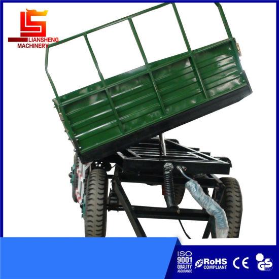 4 Wheels Farm Semi Trailer Capacity 3-10tons Agricultural Dump Trailer Tractor Tipper Trailer