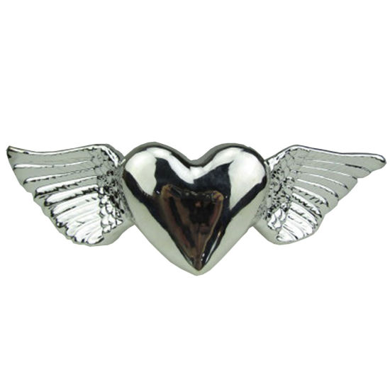 Wholesale Valentines Days Silver Electroplating Ceramic Heart Shape for Weeding