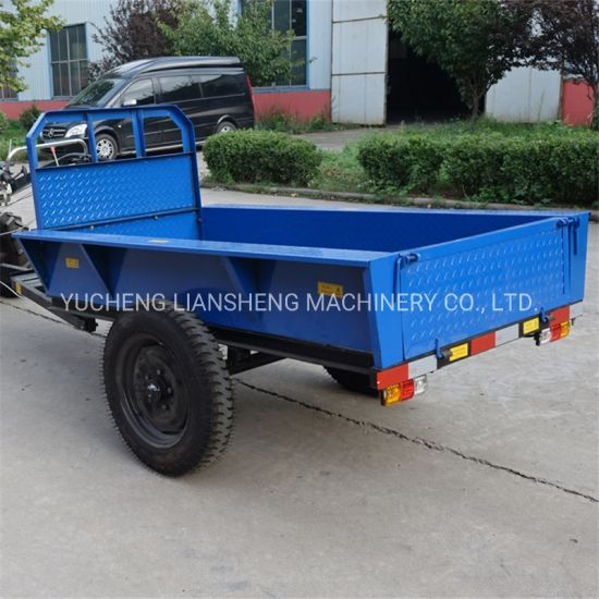 0.5-1.5t Single-Axis Hand-Held Trailer Hand-Held Tractor Trailer for Sale