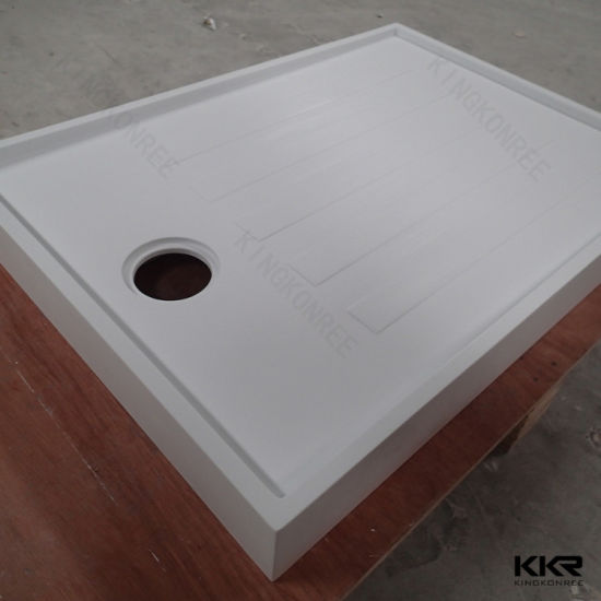 Custom Made Solid Surface Resin Stone Shower Tray