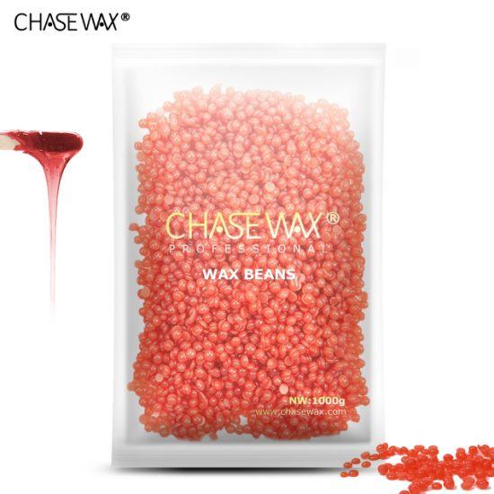 China Flexible 1000g Strawberry Depilatory Wax Hard Wax Beans Wax