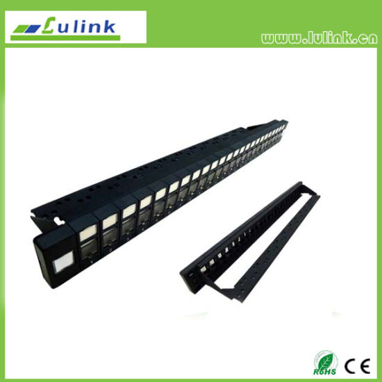 Lk5PP2402u104 Cat5e UTP 24 Port Patch Panel (Double USE End) pictures & photos