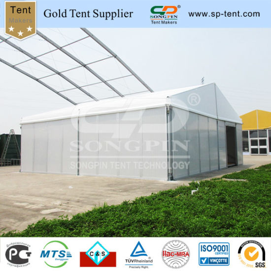 China Self Contained Storage Tent with Rolling Gate and Wooden Floor