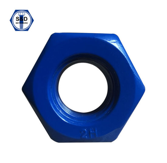 Heavy Hex Structural Nuts A194 2h Teflon and Zinc Plated